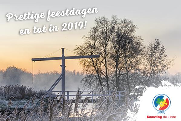 Scouting de Linde wenst u prettige feestdagen voor 2018