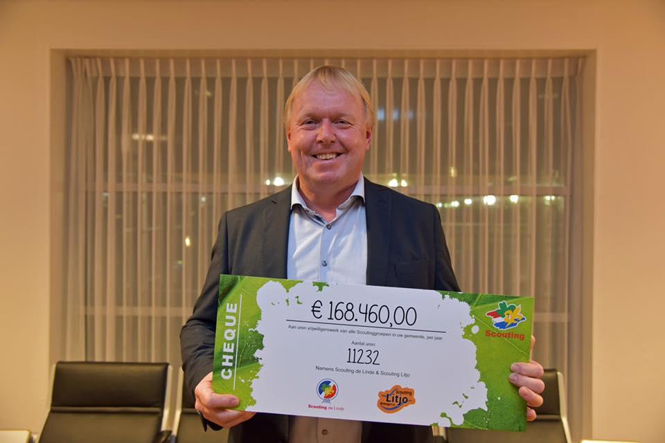 Scoutingvrijwilligers gemeente Weststellingwerf zijn 168.460,00 waard