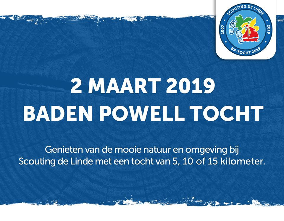 2 MAART 2019 BADEN POWELL TOCHT