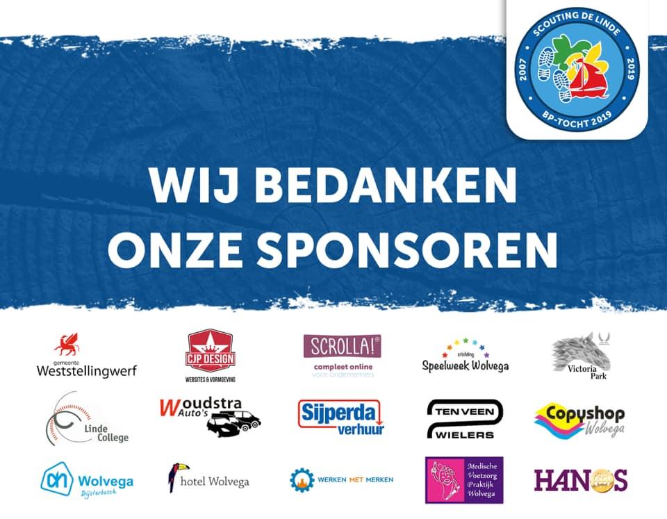 Wij bedanken onze sponsoren van de BP-Tocht